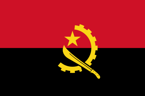 Flag of Angola for Timezone