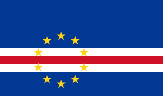 Flag of Cape Verde for Timezone