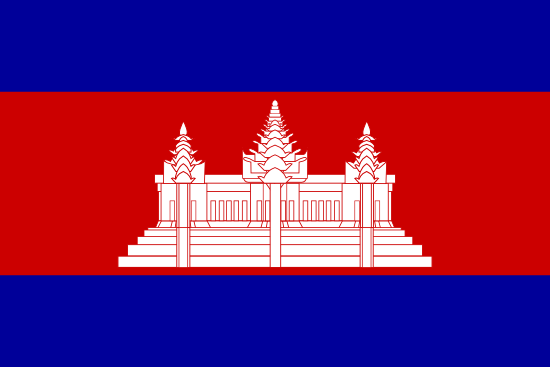 Flag of Cambodia for Timezone