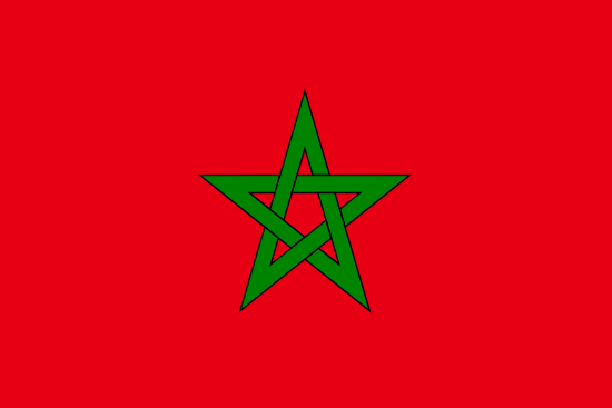 Flag of Morocco for Timezone