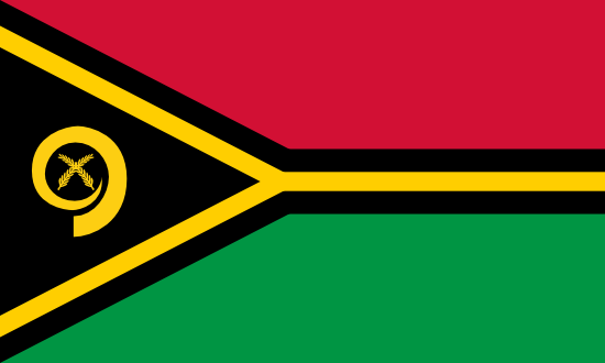 Flag of Vanuatu for Timezone